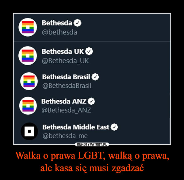 Walka o prawa LGBT, walką o prawa, ale kasa się musi zgadzać –