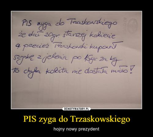 PIS zyga do Trzaskowskiego