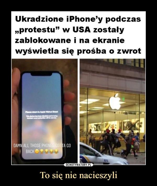 """To się nie nacieszyli –  Ukradzione iPhone'y podczas """"protestu"""" w USA zostały zablokowane i na ekranie wyświetla się prośba o zwrot"""