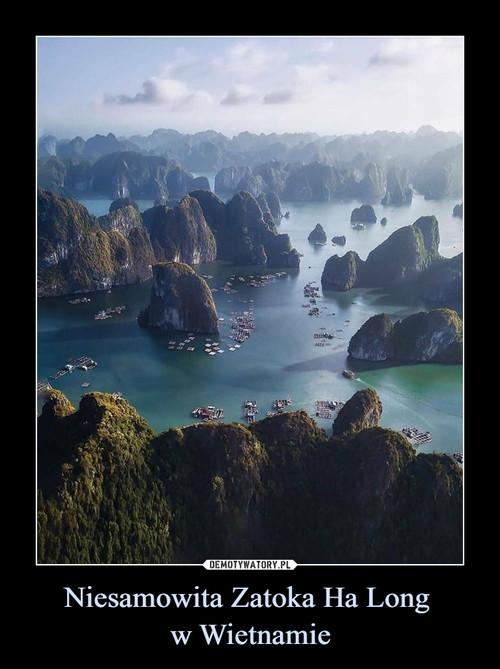 Niesamowita Zatoka Ha Long  w Wietnamie