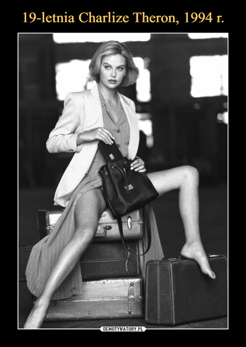 19-letnia Charlize Theron, 1994 r.