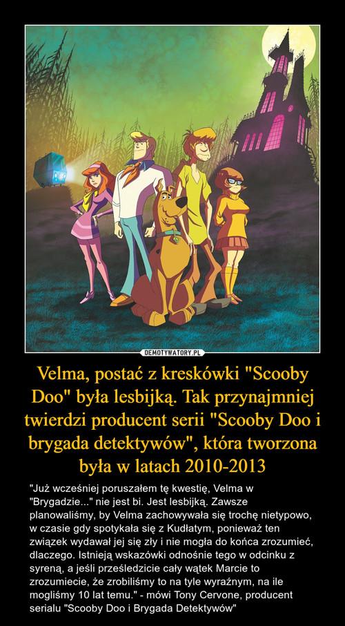 """Velma, postać z kreskówki """"Scooby Doo"""" była lesbijką. Tak przynajmniej twierdzi producent serii """"Scooby Doo i brygada detektywów"""", która tworzona była w latach 2010-2013"""