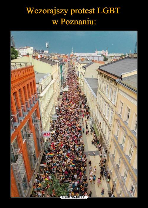 Wczorajszy protest LGBT  w Poznaniu: