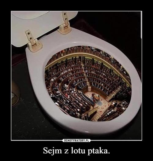 Sejm z lotu ptaka.