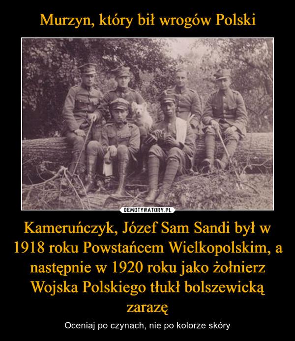 Kameruńczyk, Józef Sam Sandi był w 1918 roku Powstańcem Wielkopolskim, a następnie w 1920 roku jako żołnierz Wojska Polskiego tłukł bolszewicką zarazę – Oceniaj po czynach, nie po kolorze skóry