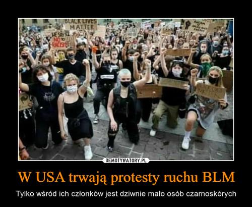 W USA trwają protesty ruchu BLM