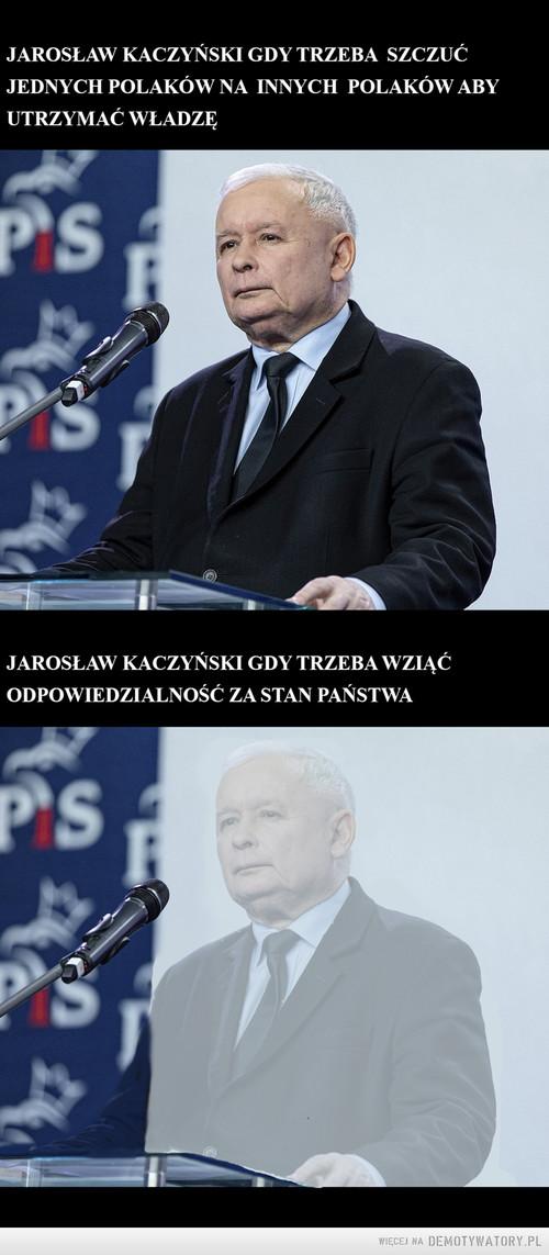 Jarosław Kaczyński gdy