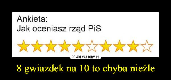 8 gwiazdek na 10 to chyba nieźle –  Ankieta: Jak oceniasz rząd PiS *********