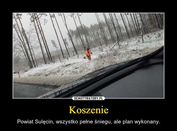 Koszenie – Powiat Sulęcin, wszystko pełne śniegu, ale plan wykonany.