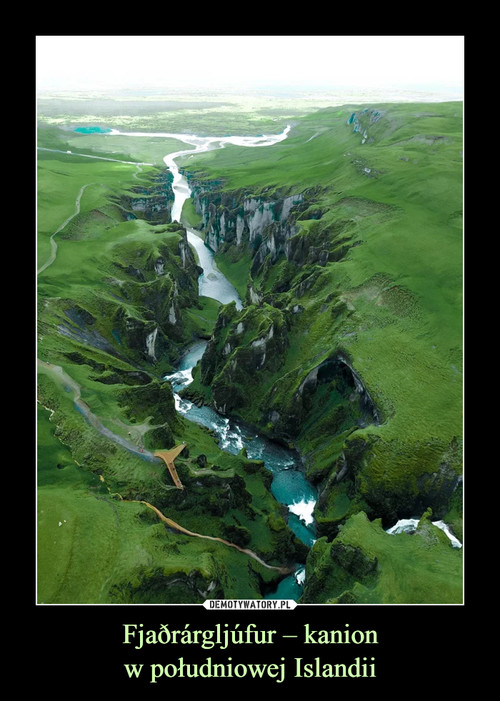 Fjaðrárgljúfur – kanion w południowej Islandii