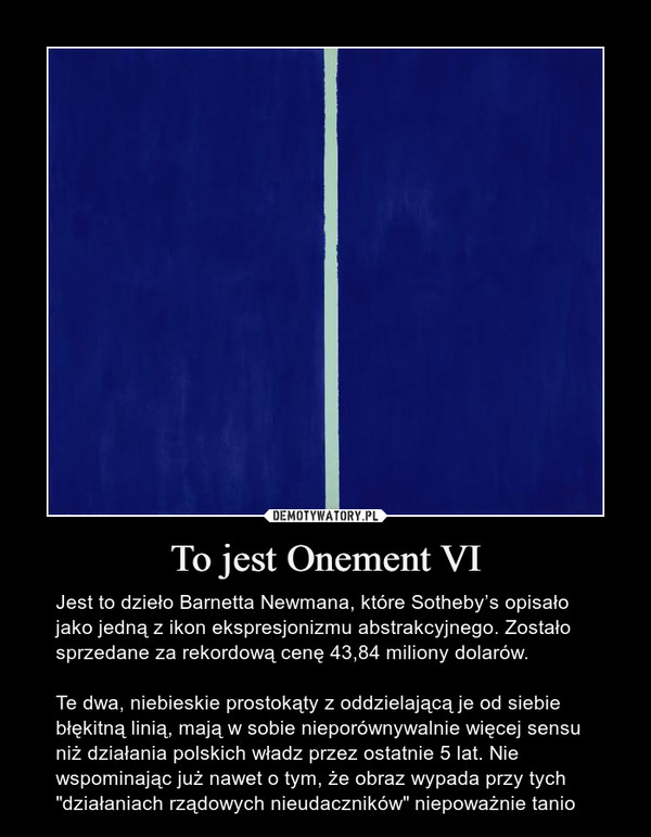 To jest Onement VI