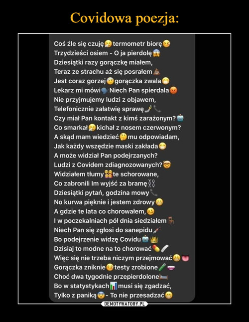 Covidowa poezja: