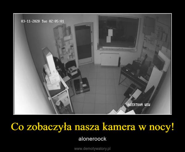 Co zobaczyła nasza kamera w nocy! – aloneroock
