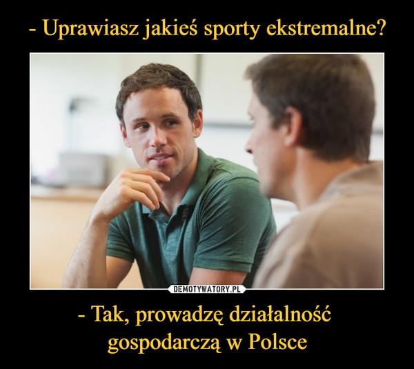 - Tak, prowadzę działalność gospodarczą w Polsce –