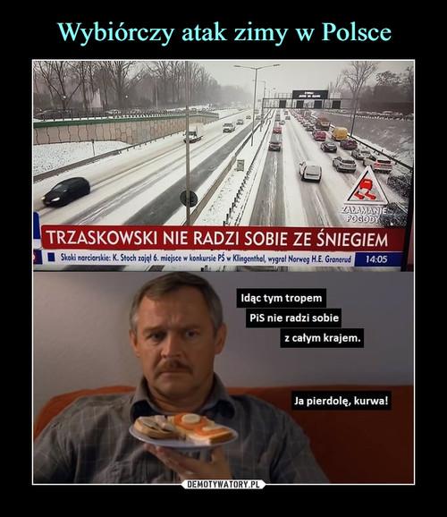 Wybiórczy atak zimy w Polsce