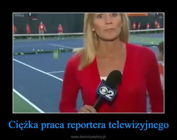 Ciężka praca reportera telewizyjnego –