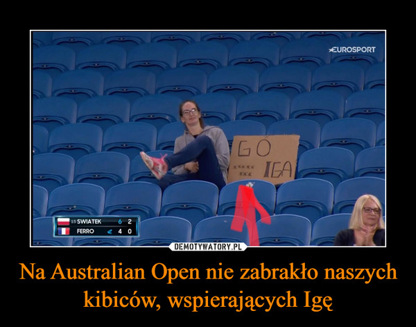 Na Australian Open nie zabrakło naszych kibiców, wspierających Igę –