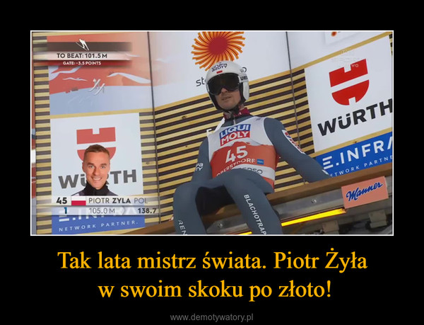 Tak lata mistrz świata. Piotr Żyła w swoim skoku po złoto! –