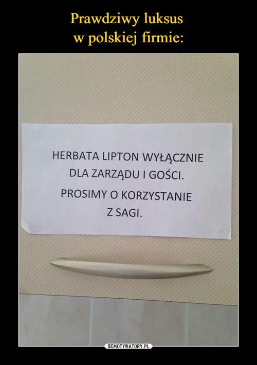 Prawdziwy luksus  w polskiej firmie: