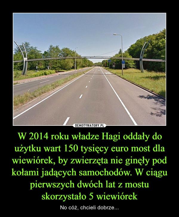W 2014 roku władze Hagi oddały do użytku wart 150 tysięcy euro most dla wiewiórek, by zwierzęta nie ginęły pod kołami jadących samochodów. W ciągu pierwszych dwóch lat z mostu skorzystało 5 wiewiórek – No cóż, chcieli dobrze...