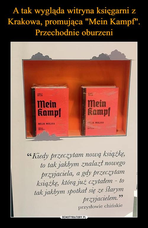 """A tak wygląda witryna księgarni z Krakowa, promująca """"Mein Kampf"""". Przechodnie oburzeni"""