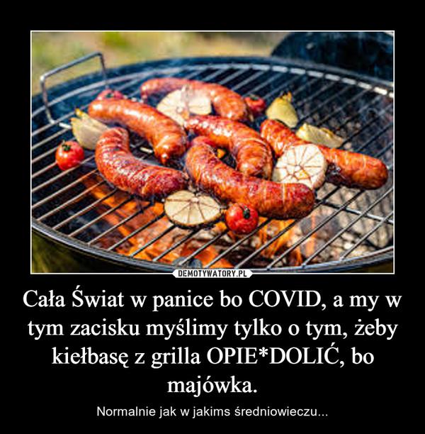 Cała Świat w panice bo COVID, a my w tym zacisku myślimy tylko o tym, żeby kiełbasę z grilla OPIE*DOLIĆ, bo majówka. – Normalnie jak w jakims średniowieczu...