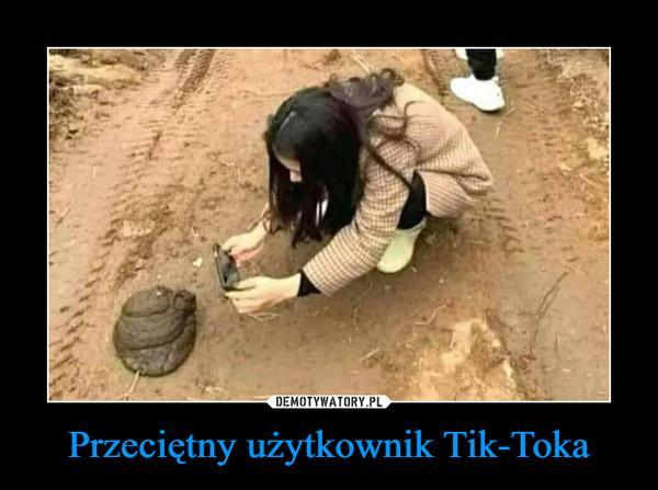 Przeciętny użytkownik Tik-Toka –