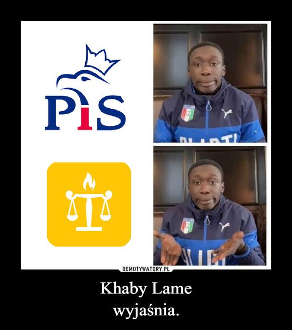 Khaby Lamewyjaśnia. –