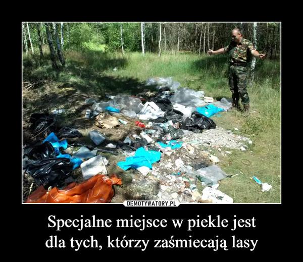 Specjalne miejsce w piekle jestdla tych, którzy zaśmiecają lasy –