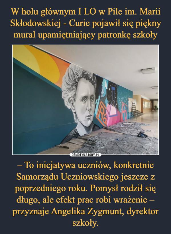 – To inicjatywa uczniów, konkretnie Samorządu Uczniowskiego jeszcze z poprzedniego roku. Pomysł rodził się długo, ale efekt prac robi wrażenie – przyznaje Angelika Zygmunt, dyrektor szkoły. –