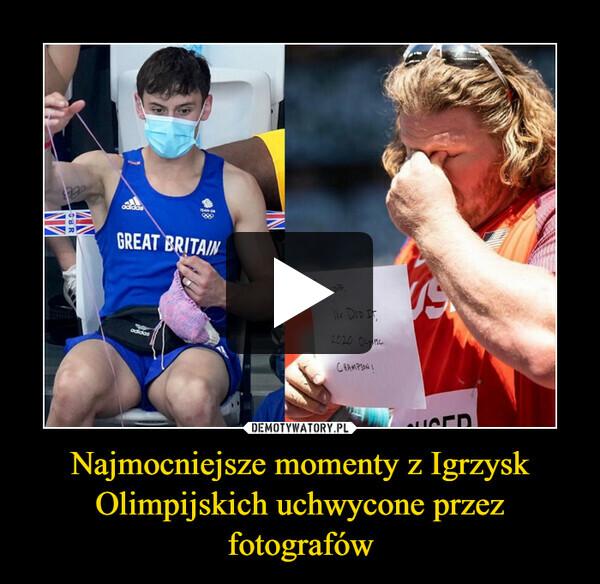 Najmocniejsze momenty z Igrzysk Olimpijskich uchwycone przez fotografów –