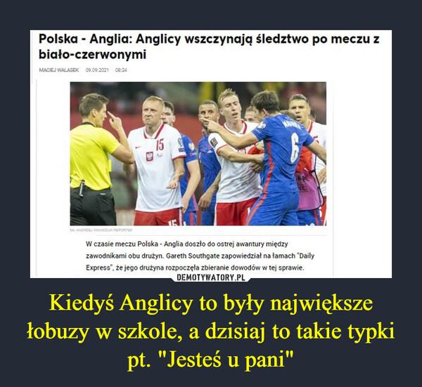 """Kiedyś Anglicy to były największe łobuzy w szkole, a dzisiaj to takie typki pt. """"Jesteś u pani"""" –  Polska - Anglia: Anglicy wszczynają śledztwo po meczu z biało-czerwonymiW czasie meczu Polska - Anglia doszło do ostrej awantury między zawodnikami obu drużyn. Gareth Southgate zapowiedział na famach 'Daily Express', że jego drużyna rozpoczęła zbieranie dowodów w tej sprawie."""