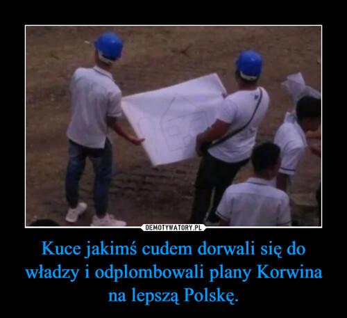Kuce jakimś cudem dorwali się do władzy i odplombowali plany Korwina na lepszą Polskę.