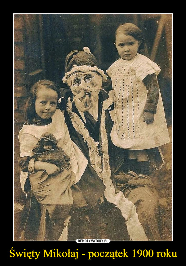 Święty Mikołaj - początek 1900 roku –